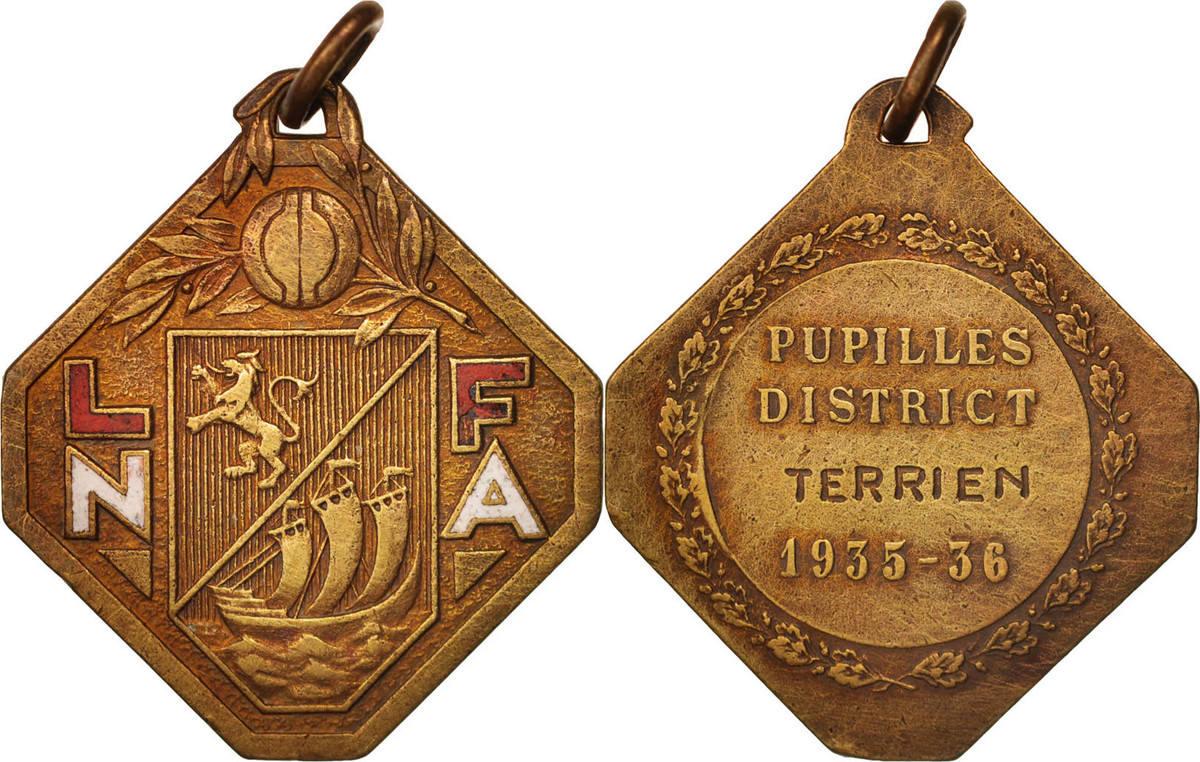 Medal 1936 Frankreich AU(55-58)