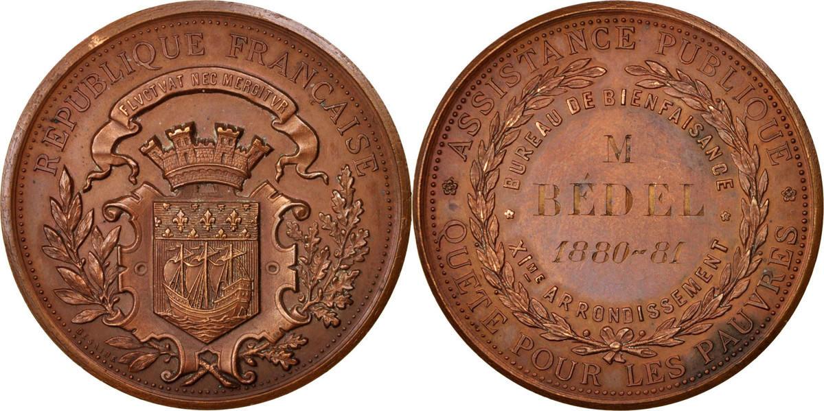 Medal 1881 Frankreich AU(55-58)