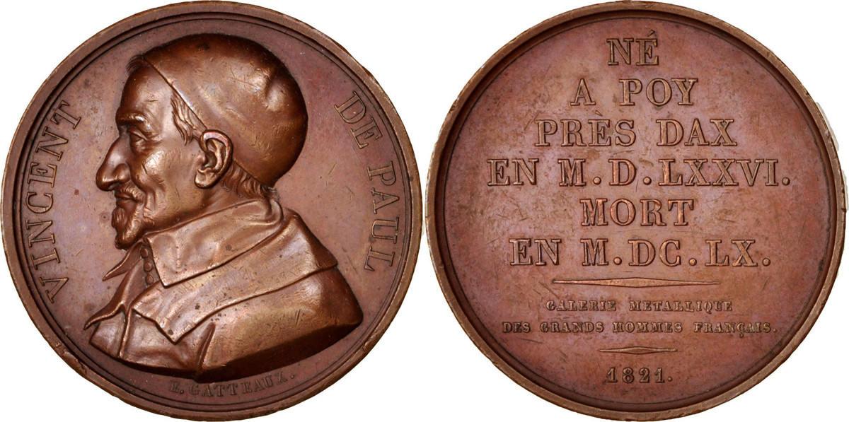 Medal 1821 Frankreich AU(55-58)