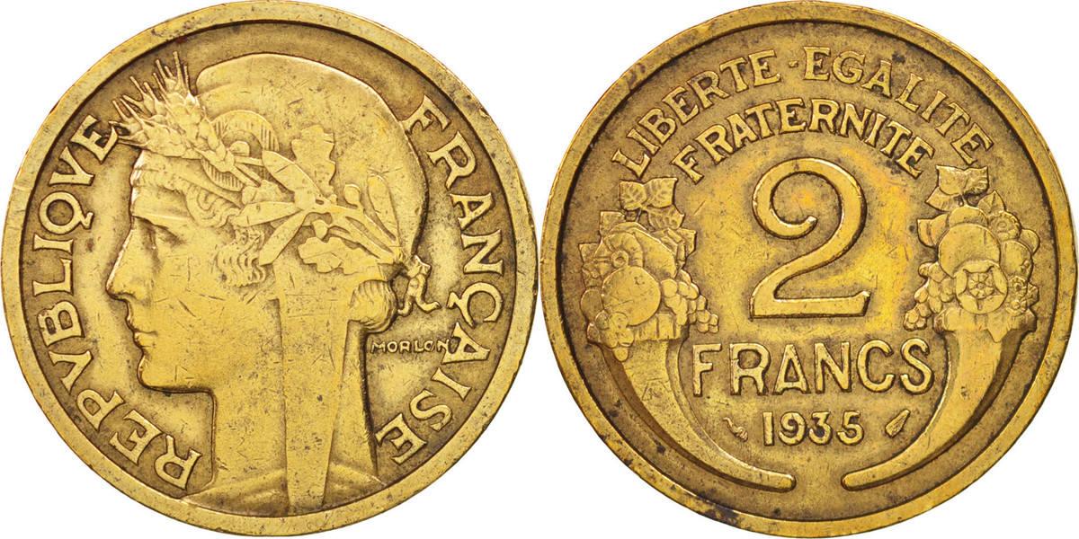 2 Francs 1935 Paris Frankreich Morlon EF(40-45)