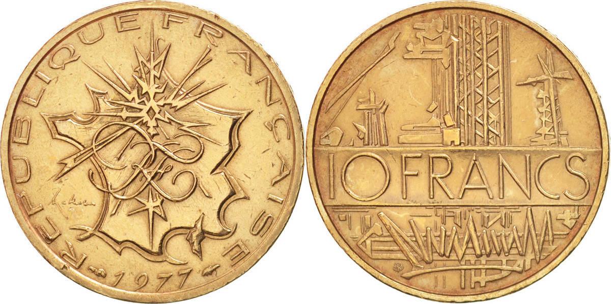 10 Francs 1975 Paris Frankreich Mathieu AU(55-58)