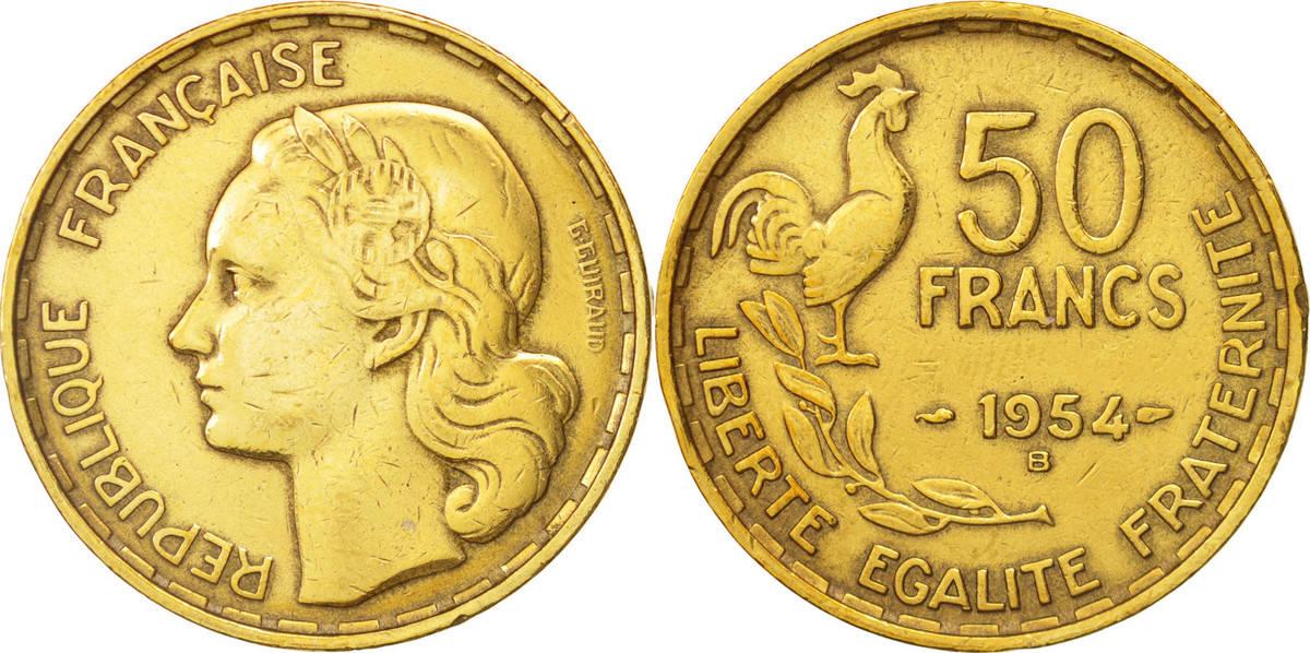 50 Francs 1954 B Frankreich Guiraud EF(40-45)