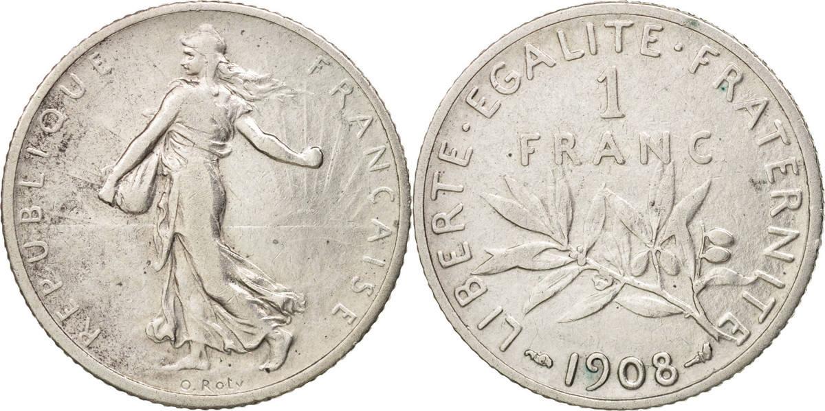 Franc 1908 Paris Frankreich Semeuse EF(40-45)