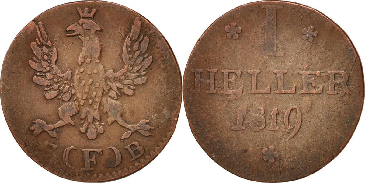 Heller 1819 F Deutsch Staaten VF(30-35)