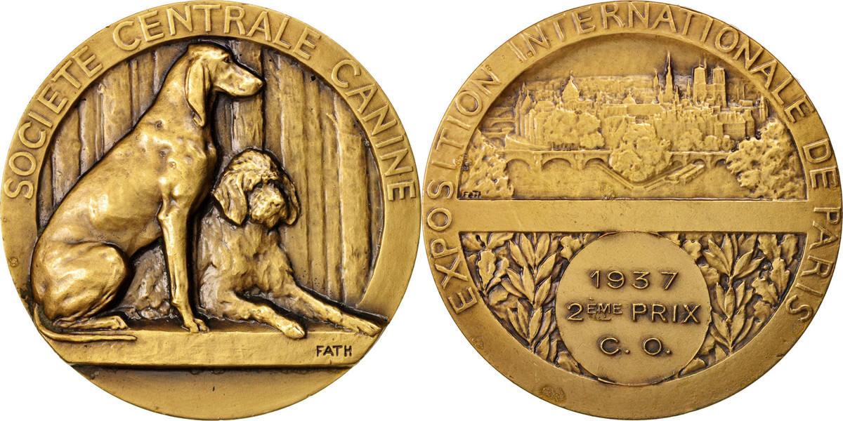 Medal 1937 Frankreich AU(55-58)