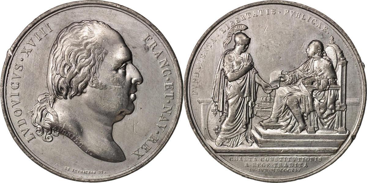 Medal 1814 Frankreich AU(50-53)