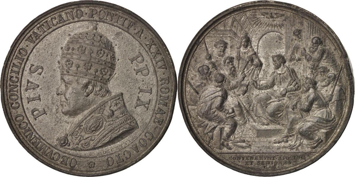 Medal 1869 Vatikan AU(50-53)
