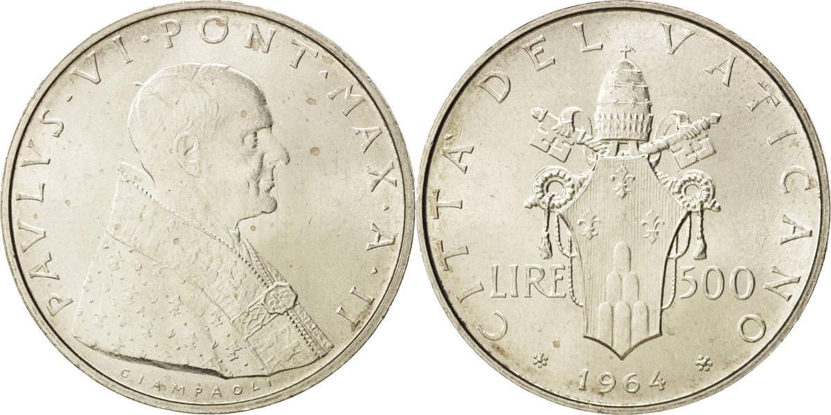 500 Lire 1964 Roma Vatikanstadt Paul VI MS(65-70)