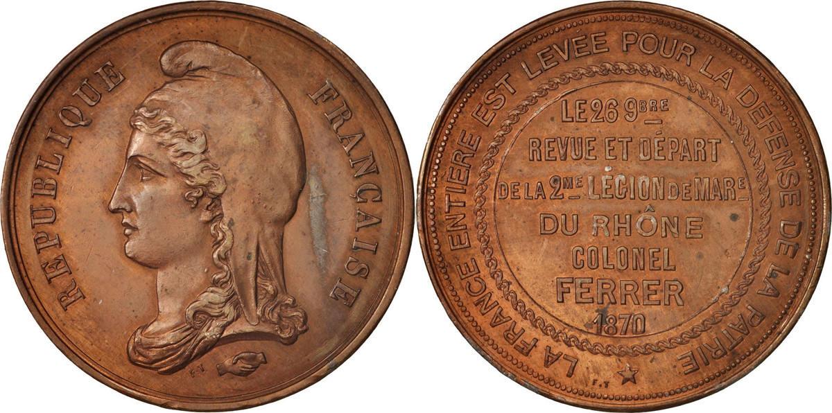 Medal 1870 Frankreich AU(50-53)