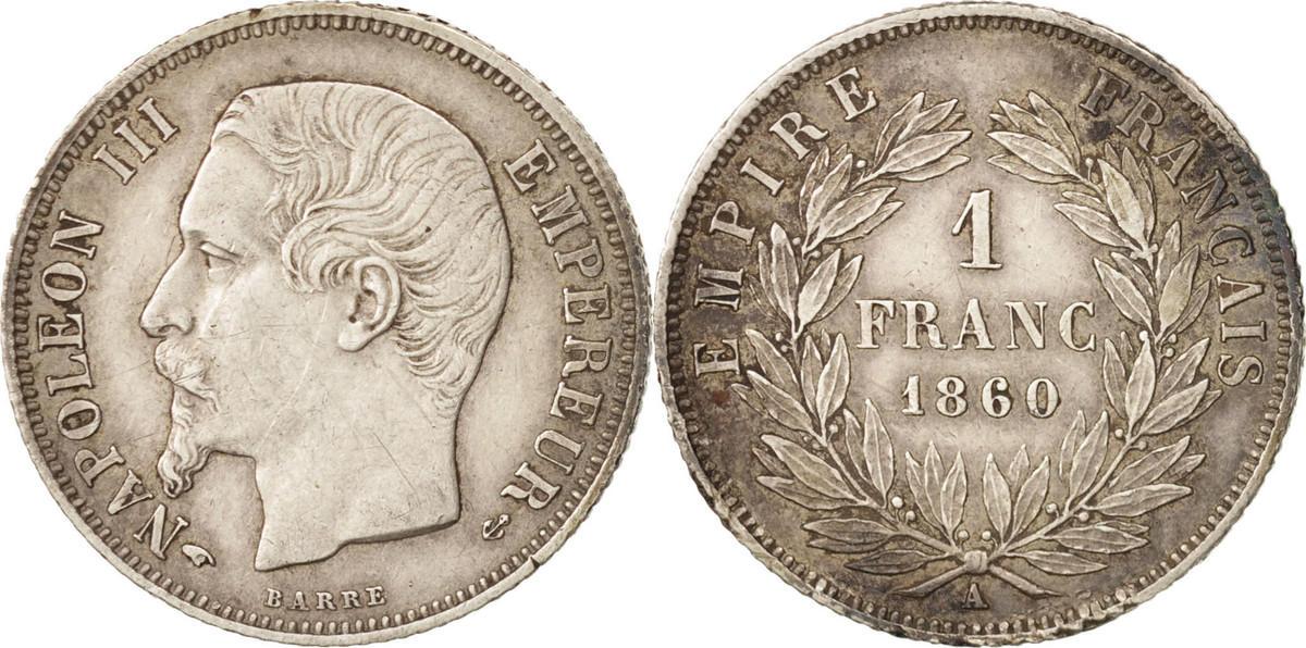 Franc 1860 A Frankreich Napoléon III Napoleon III AU(50-53)