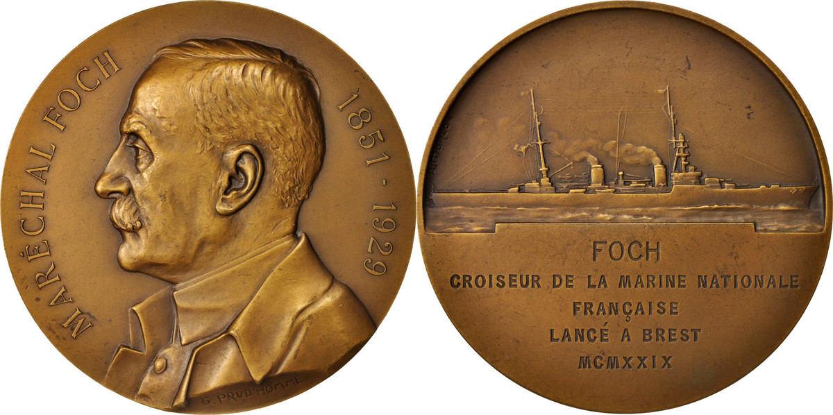 Medal 1929 Frankreich AU(55-58)