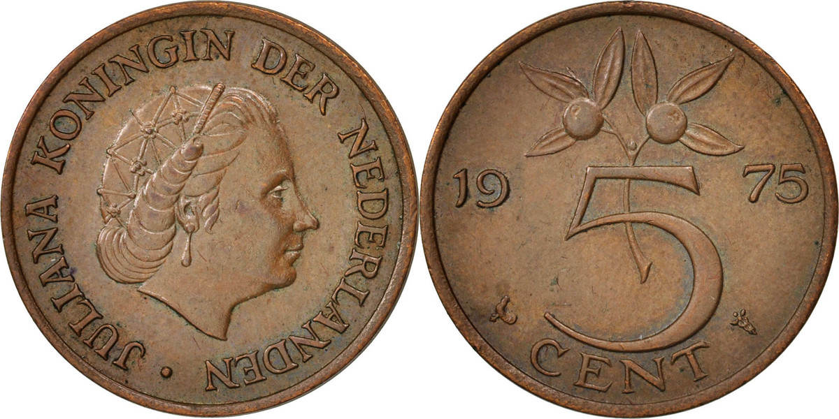 5 Cents 1975 Niederlande Juliana AU(50-53)