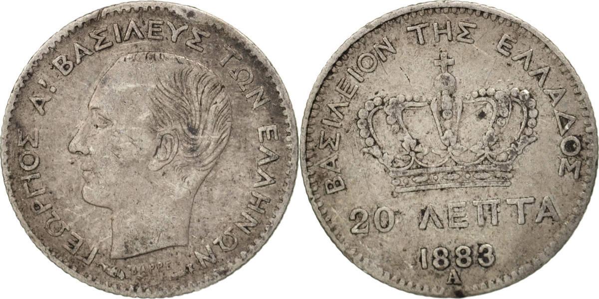 20 Lepta 1883 A Griechenland George I VF(30-35)