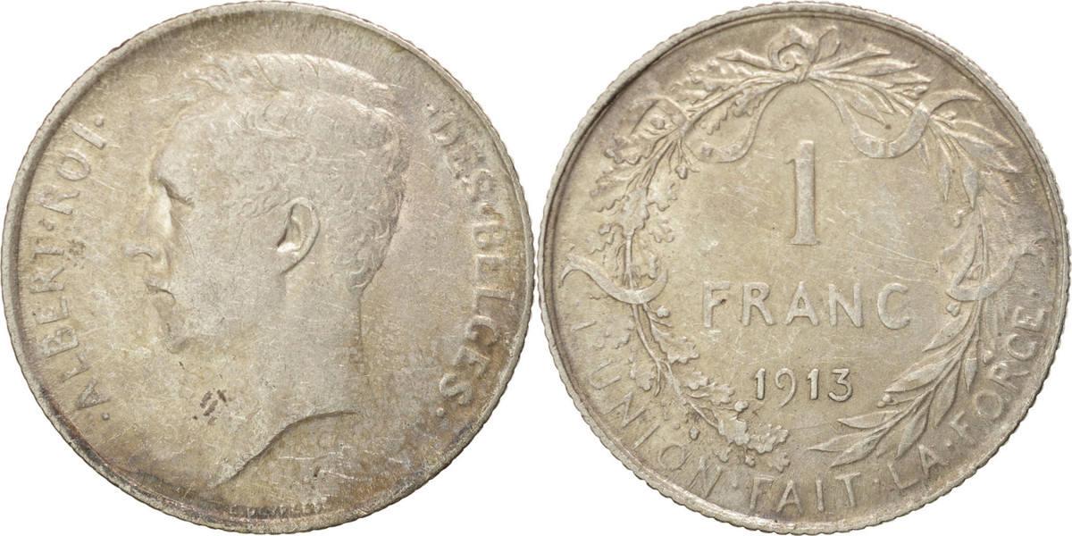 Franc 1913 Belgien Silber, KM:72 AU(50-53)