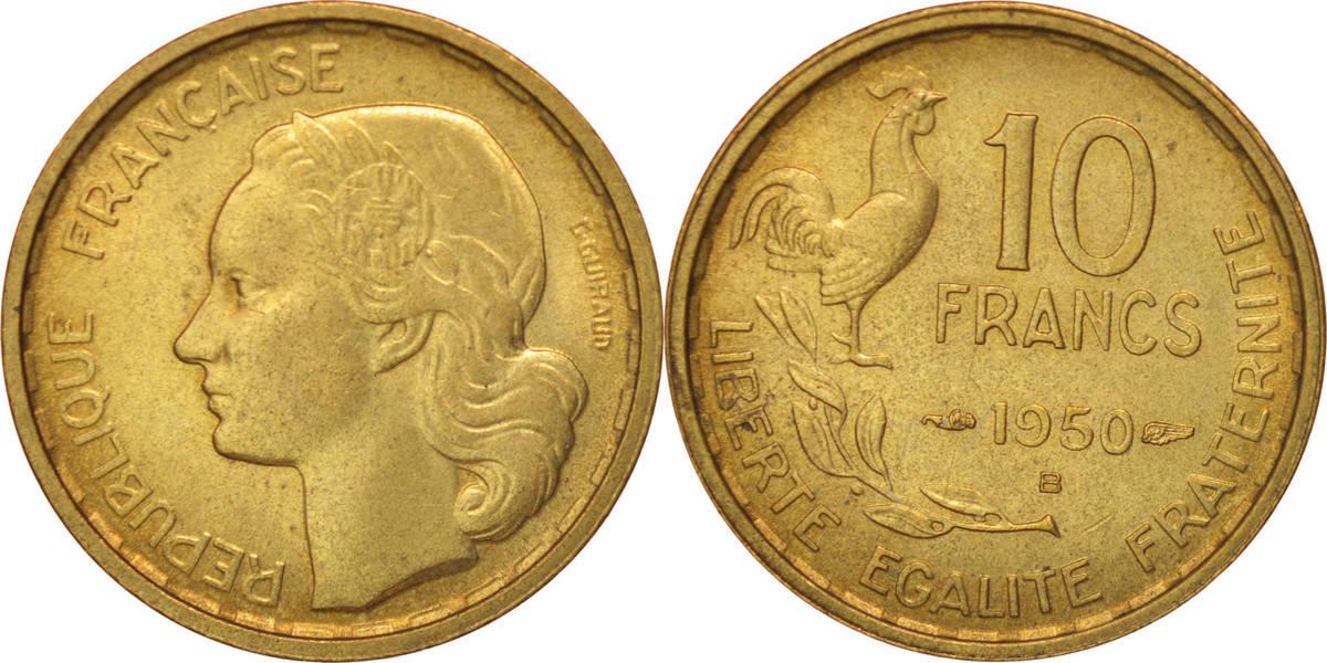 10 Francs 1950 B Frankreich Guiraud, Beaumont - Le Roger AU(55-58)
