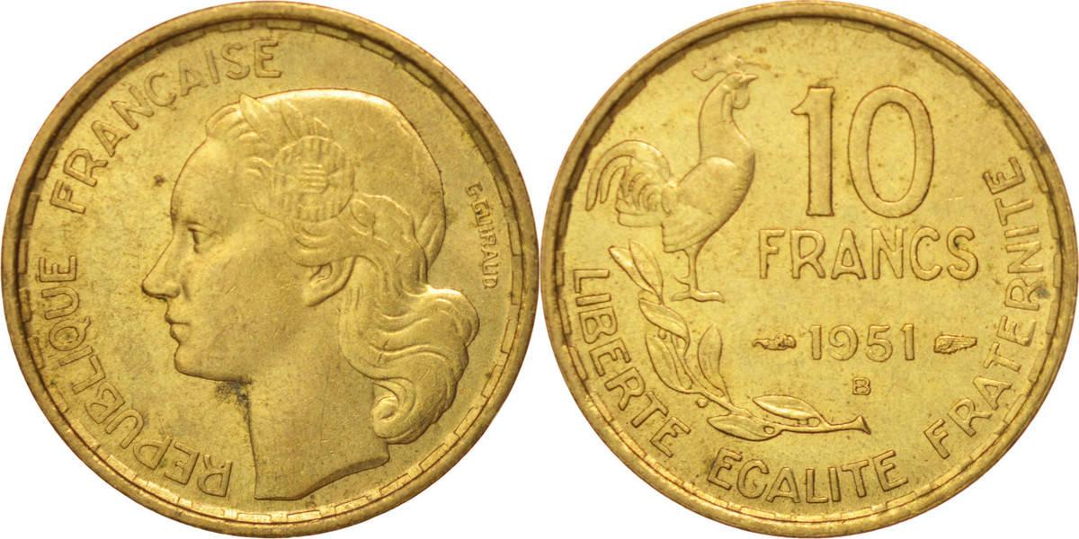 10 Francs 1951 B Frankreich Guiraud, Beaumont - Le Roger MS(60-62)
