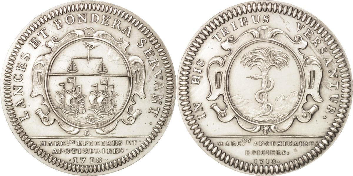 Token 1710 Frankreich Trades, Deuxième corps des marchands MS(65-70)