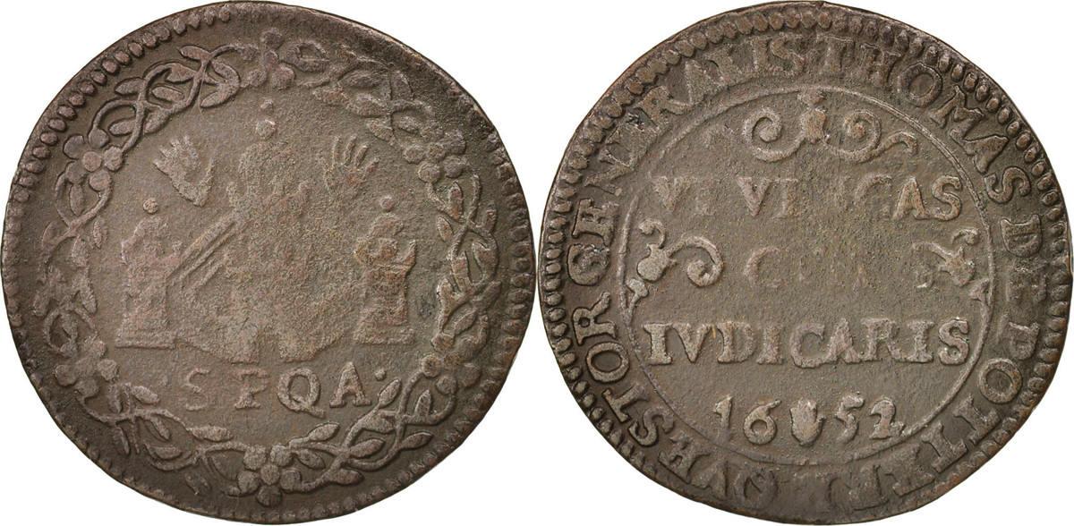 Token 1652 Belgien Belgium, Spanish netherlands, Anvers, Thomas De Potter, Receveur général S+