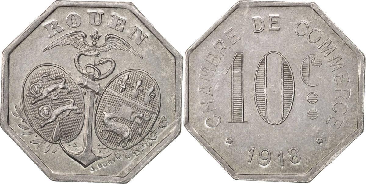 10 Centimes 1918 Frankreich Aluminium, Elie:10.2 UNZ+