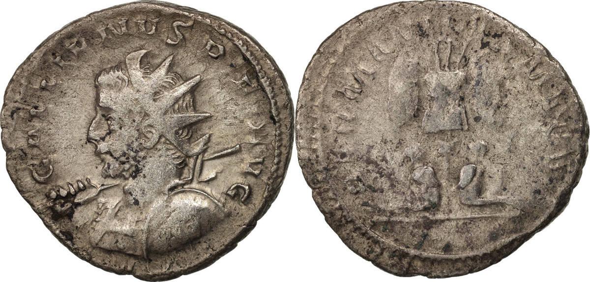 Antoninianus 258-259 Lyons Gallienus, Lyons, Billon, RIC:18 S+