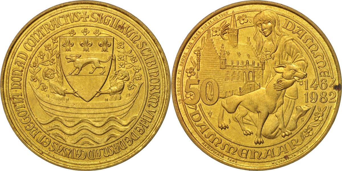 Token 1982 Belgien Touristic token, Damme, 50 Dammenaar, UNZ UNZ