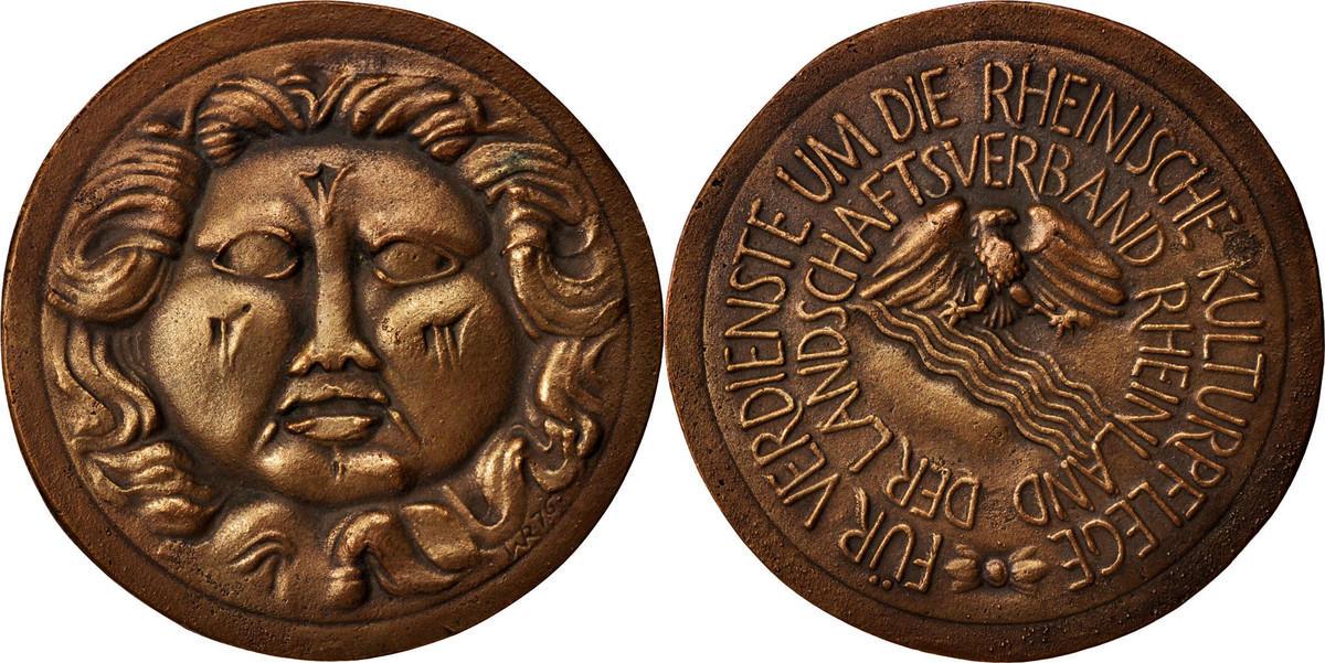Medal Deutschland Landschaft Rheinland, Arts & Culture, VZ, Bronze, 78 VZ