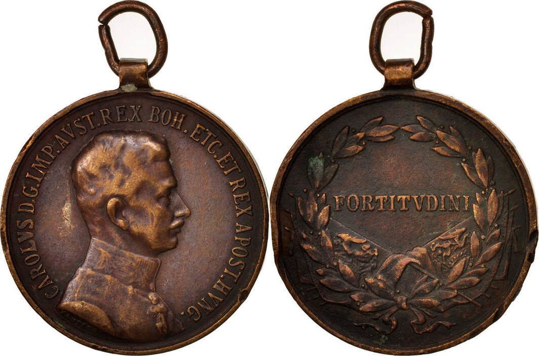 Medal Österreich Charles, History, SS, Bronze, 35 SS
