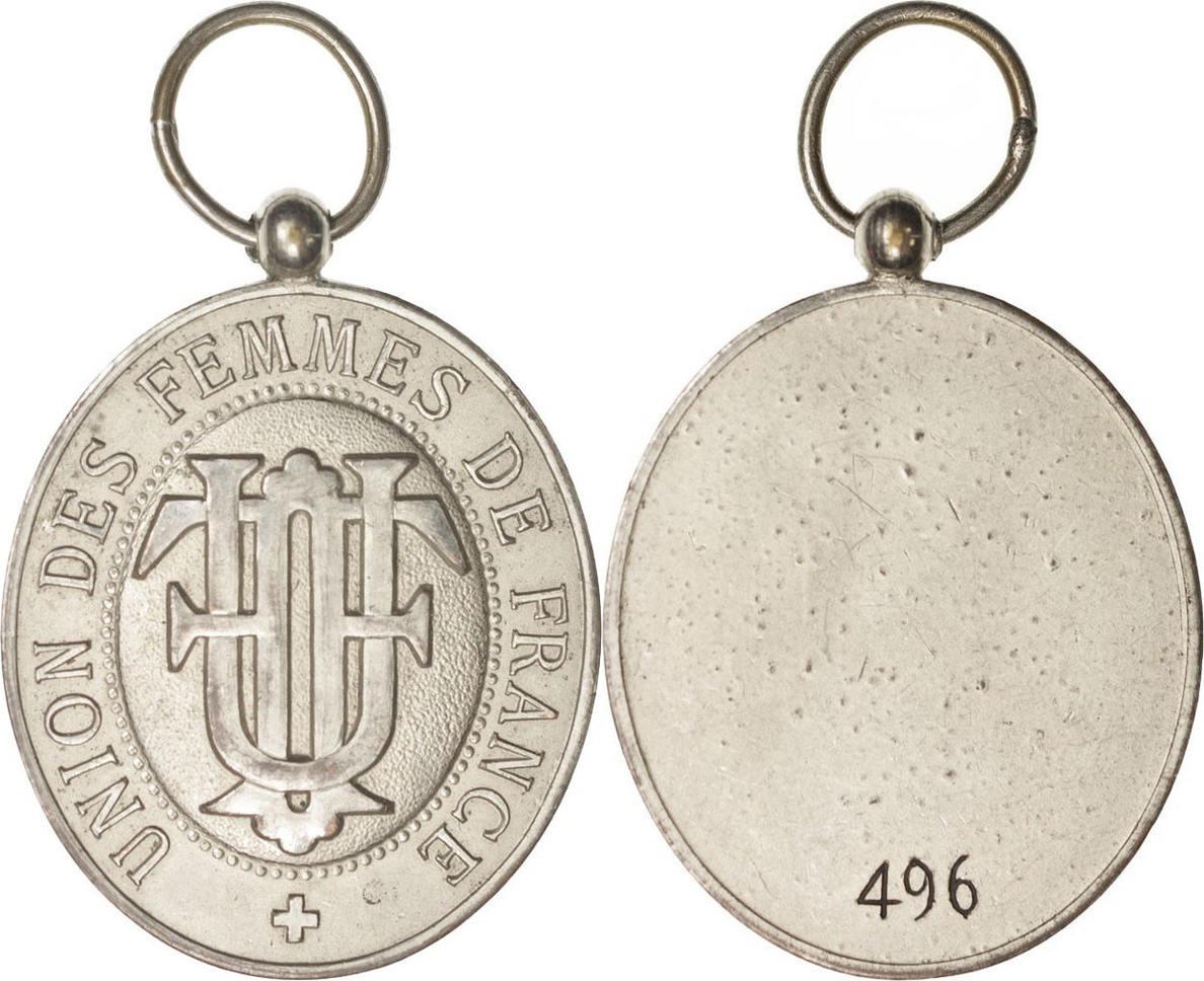 Medal XXth Century Frankreich Union des Femmes de France, Excellent Quality