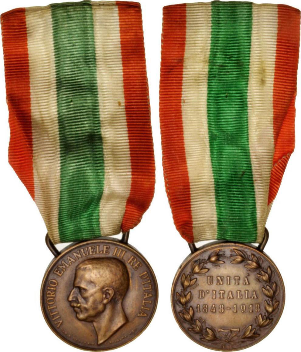 Medal 1848-1918 Italien Unita d'Italia, Very Good Quality, Bronze, 38