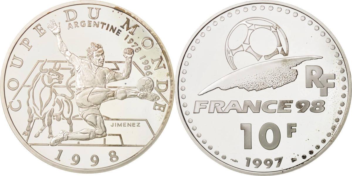 10 Francs 1997 Frankreich STGL, Silber, KM:1161 STGL