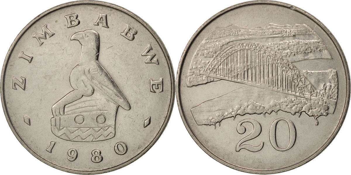 20 Cents 1980 Simbabwe SS+, Copper-nickel, KM:4 SS+