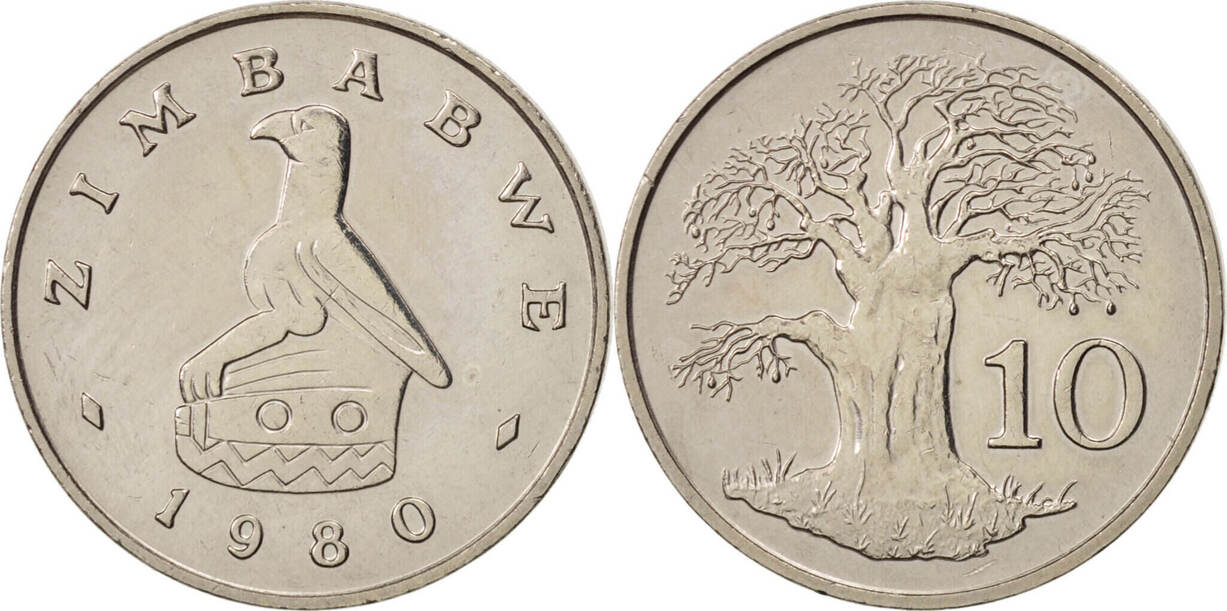 10 Cents 1980 Simbabwe SS+, Copper-nickel, KM:3 SS+
