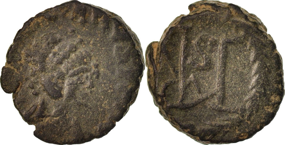 Centenionalis 450-457 Thessalonica Marcian, Thessalonica, SS, Copper, RIC:x 535 SS