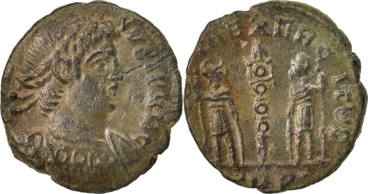 Nummus 307-324 Trier Constantine II, Trier, SS, Copper, RIC:591 SS