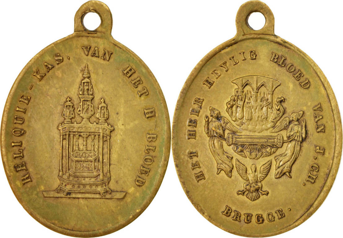 Medal Belgien Brugge, Religions & beliefs, SS+, Brass, 27 SS+