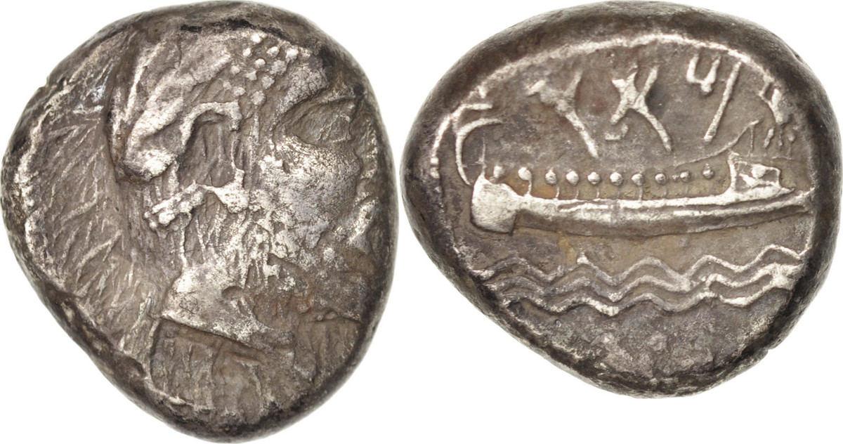 Stater 350 BC Arados Phenicie, Arados, SS, Silber, BMC:pl.2/12 SS
