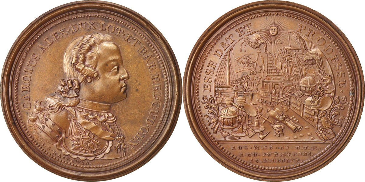 Medal 1754 Frankreich Charles Alexander, Duke of Lorraine UNZ