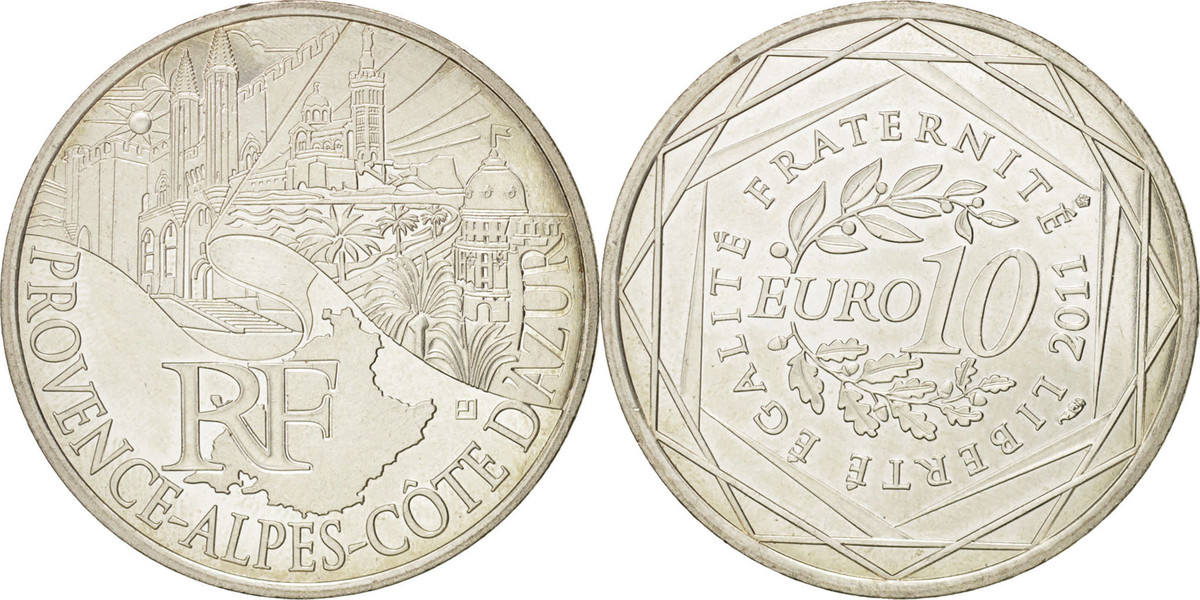 10 Euro 2011 Paris Frankreich VZ+, Silber, KM:1749 VZ+