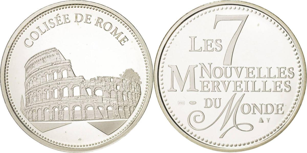 Medal Frankreich Merveilles du monde, Colisée de Rome, Arts & Culture STGL