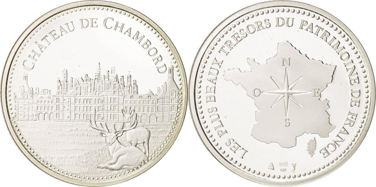 Medal Frankreich Les plus beaux trésors du patrimoine de France, Château... STGL