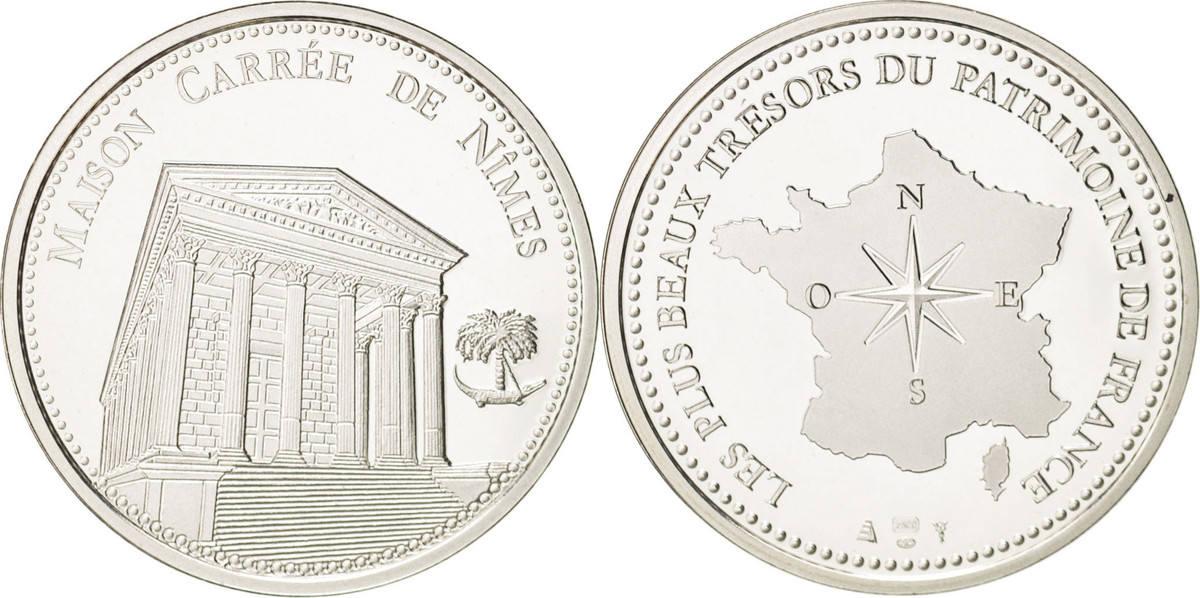Medal Frankreich Les plus beaux trésors du patrimoine de France, Nîmes STGL