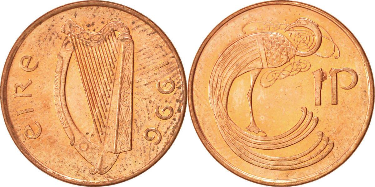 Penny 1996 IRELAND REPUBLIC VZ, Copper Plated Steel, KM:20a VZ