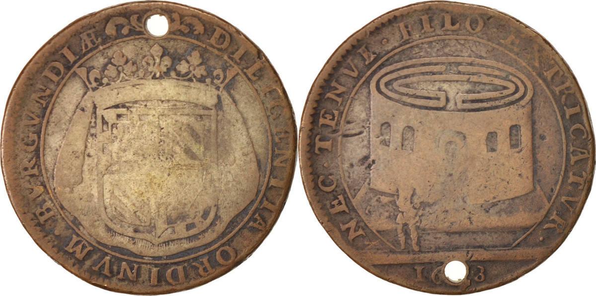 Token 1678 Frankreich Royal, Etats de Bourgogne, Suppression des francs-fiefs, 1... SGE+