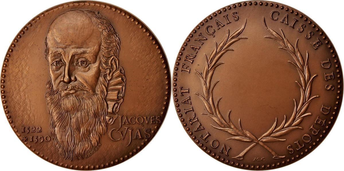 Medal 1975 Frankreich Notariat Français, Caisse des Dépôts, Jacques Cujas VZ