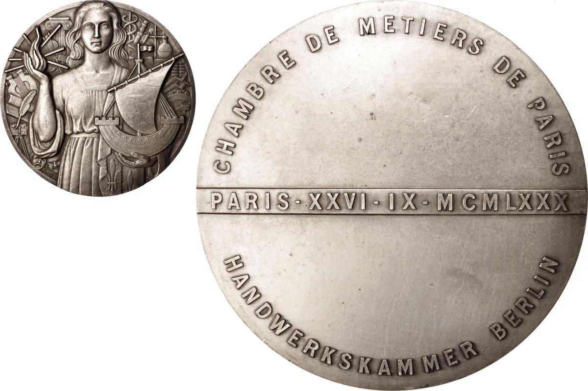 Medal 1980 Frankreich Chambre des Métiers de Paris, Business & industry VZ