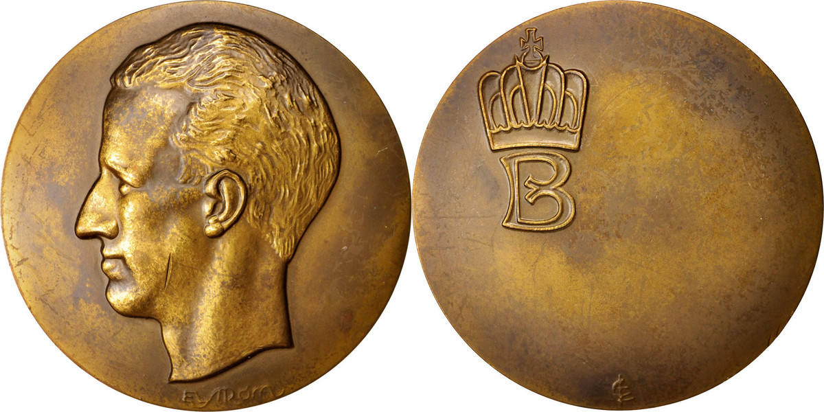 Medal Belgien Baudouin roi des Belges, History, SS+, Bronze SS+