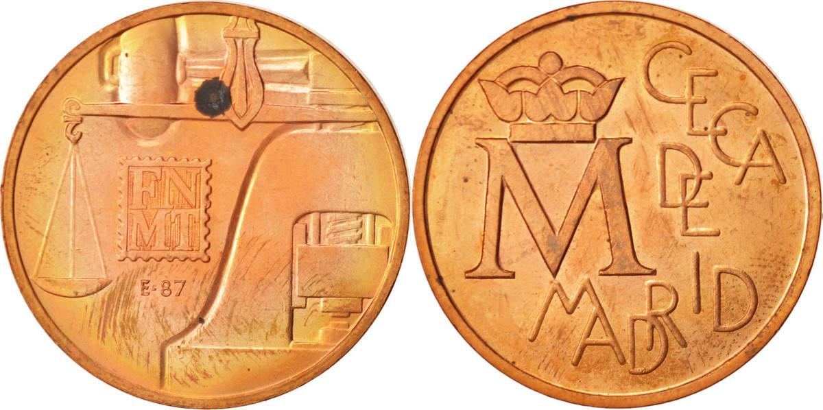 Token 1987 Spanien Spain, Ceca de Madrid, STGL, Copper STGL