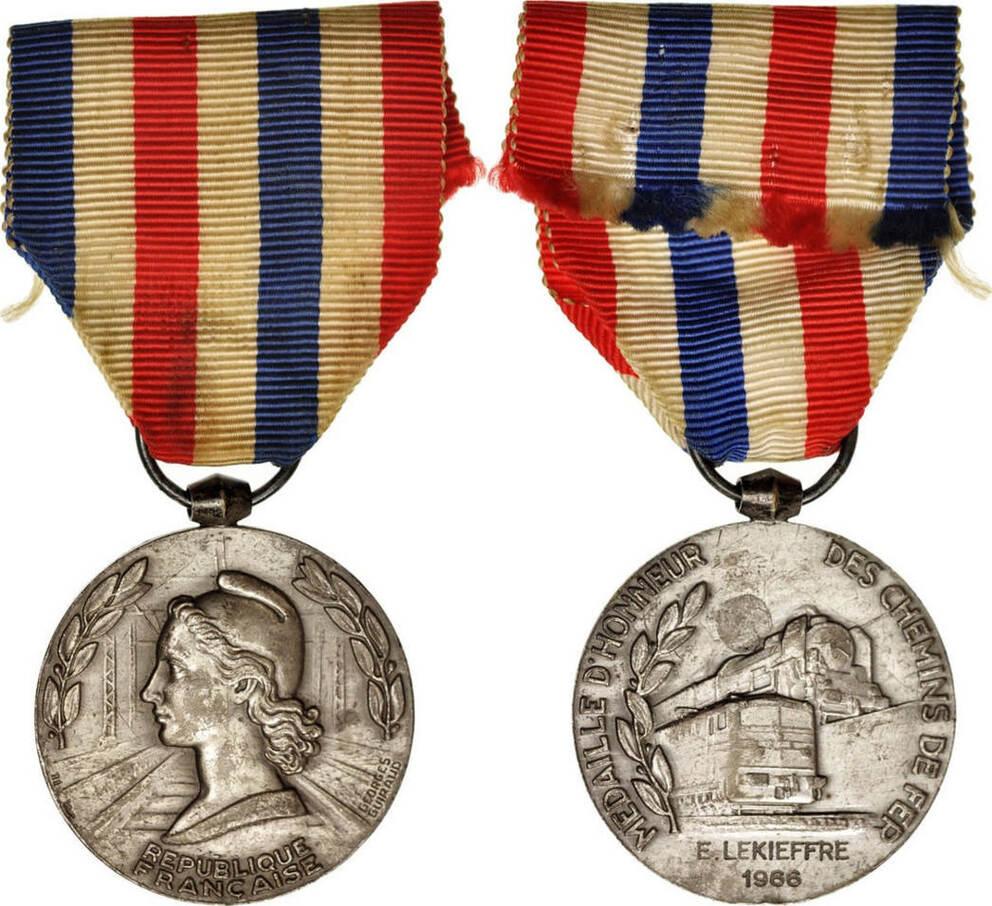 Medal 1966 Frankreich Médaille d'honneur des chemins de fer, Railway