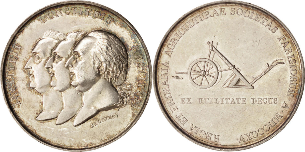 Medal 1815 Frankreich Louis XVIII, Business & industry, Jeuffroy, SS+, Bronze SS+
