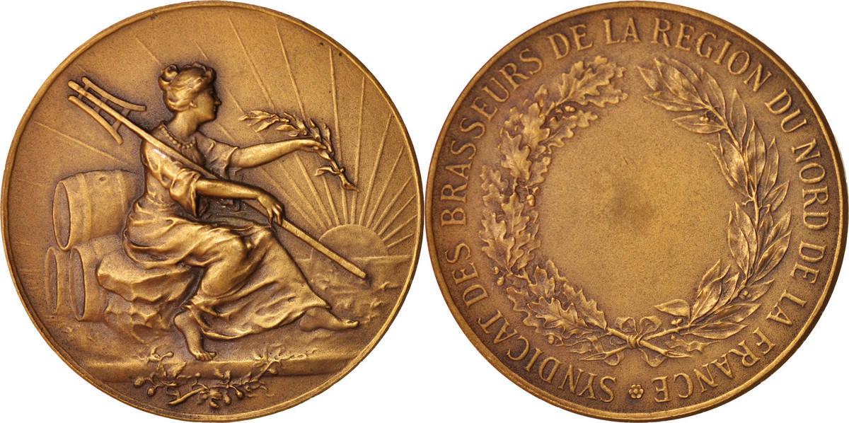 Medal Frankreich Syndicat des Brasseurs de la Région du Nord de la France,... VZ